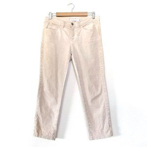 NEW | See by Chloe Burnout Ankle Crop Jeans Beige